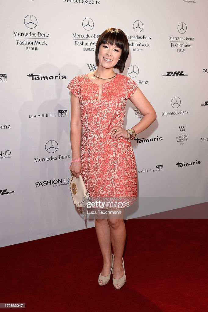 Nela Panghy-Lee attends the Umasan Show during Mercedes-Benz Fashion Week Spring/Summer 2014 at Brandenburg Gate on July 5, 2013 in Berlin, Germany.