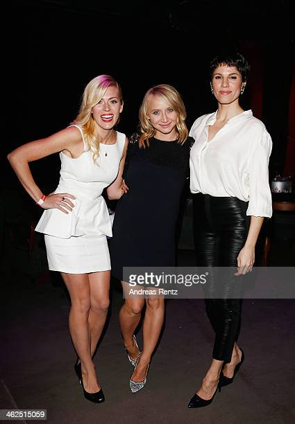 Nele Kiper Anna Maria Muehe and Jasmin Gerat attend the after show party of the film 'Nicht mein Tag' at Ritter Butzke on January 13 2014 in Berlin...