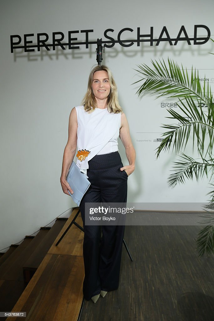Nele Mueller-Stoefen attends the Perret Schaad show during the Mercedes-Benz Fashion Week Berlin Spring/Summer 2017 at Stage at me Collectors Room on June 30, 2016 in Berlin, Germany.