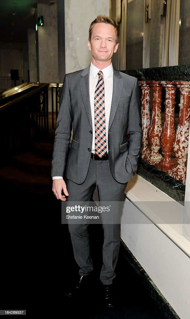 Neli Patrick Harris attends attend An Evening Benefiting The L.A. Gay & Lesbian Center Honoring Amy Pascal and Ralph Rucci on March 21, 2013 in Beverly Hills, California.