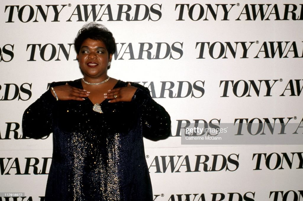 <a gi-track='captionPersonalityLinkClicked' href=/galleries/search?phrase=Nell+Carter&family=editorial&specificpeople=892544 ng-click='$event.stopPropagation()'>Nell Carter</a> (1948-2003) at the 43rd Annual Tony Awards on June 4, 1989 at the Lunt-Fontanne Theater in New York City, New York,.