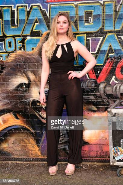 Nell Hudson attends the European Gala screening of 'Guardians of the Galaxy Vol 2' at the Eventim Apollo on April 24 2017 in London United Kingdom