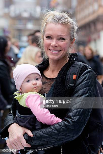 Nell McAndrew and daughter Anya attend the celebrity screening of Disney's 'Frozen' on November 17 2013 in London United Kingdom