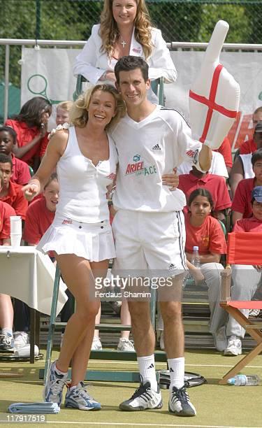 Nell McAndrew and Tim Henman with Karen Brady behind