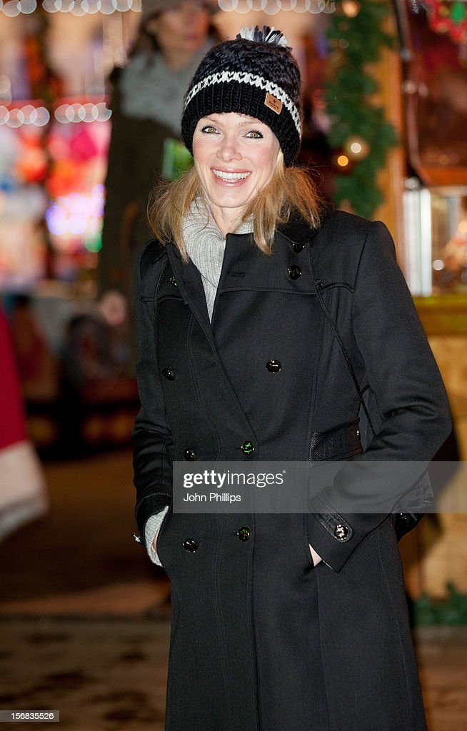 Nell McAndrew attends the Winter Wonderland launch party at Hyde Park on November 22, 2012 in London, England.