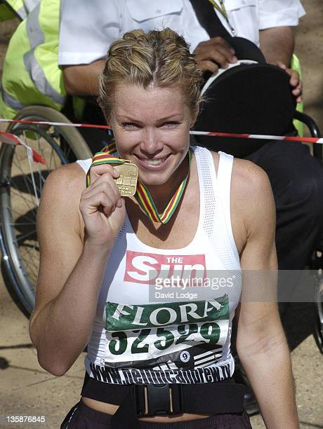 Nell McAndrew during 2005 Flora London Marathon at The Mall in London Great Britain