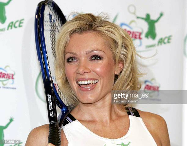 Nell McAndrew during Ariel Tennis Ace London Launch and Photocall at David Lloyd Leisure Centre Hounslow in London Great Britain