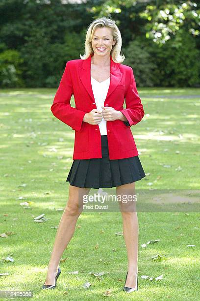 Nell McAndrew during Butlins Gets a New Strip at Westminster Boating House in London Great Britain
