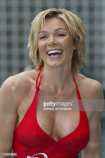 Nell McAndrew during Butlin's Swimathon 2005 Photocall at The Carlton Tower Hotel in London Great Britain