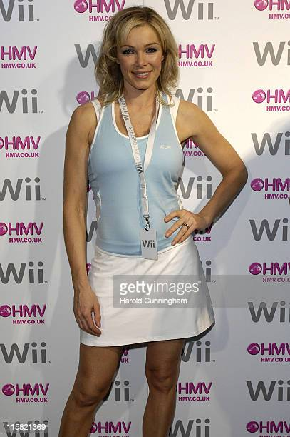 Nell McAndrew during Launch of the Nintendo Wii at HMV Oxford Street in London Great Britain