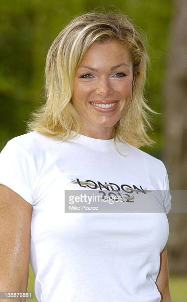 Nell McAndrew during London 2012 Olympic Bid Flag Unveiled at The Mall in London Great Britain