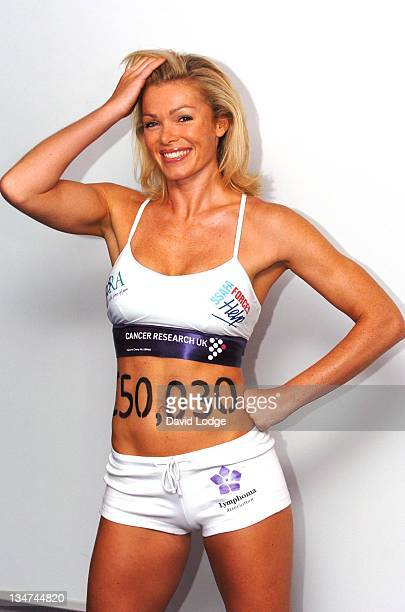 Nell McAndrew during Nell McAndrew Cancer Research London Photocall at Lincoln's Inn Fields in London Great Britain
