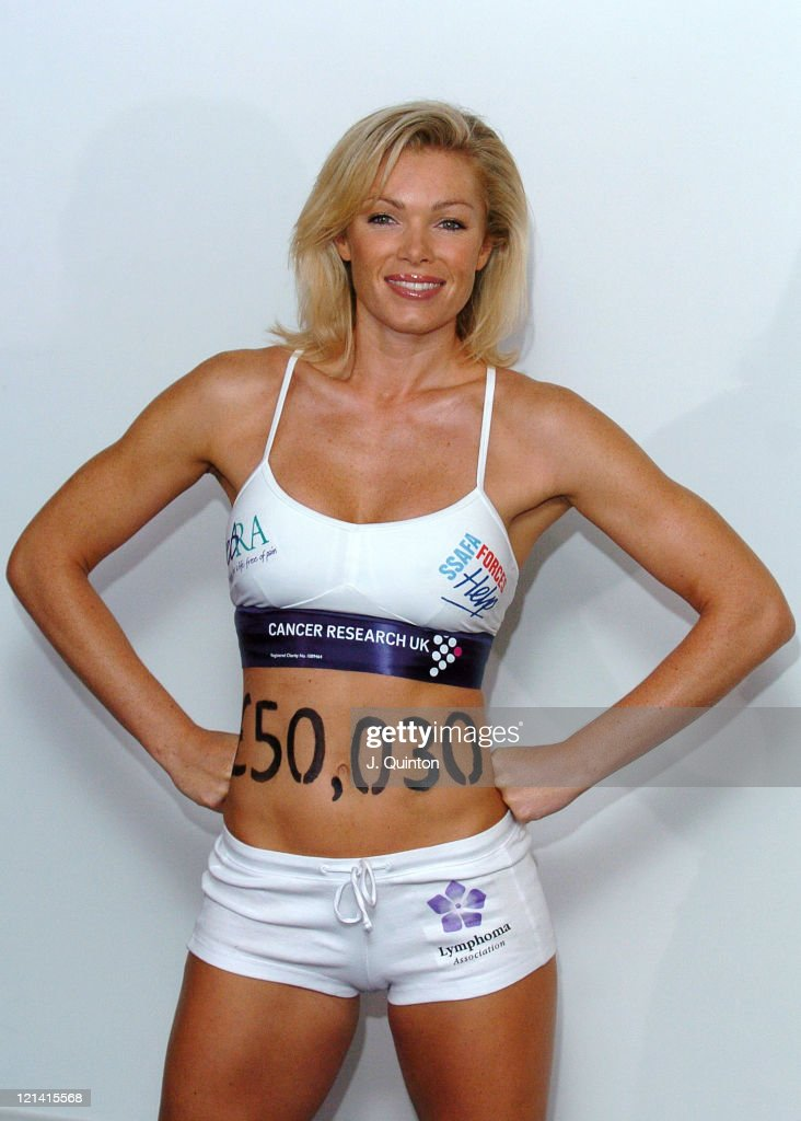 Nell McAndrew Cancer Research UK Photocall