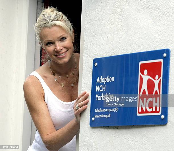 Nell McAndrew during Nell McAndrew Donates Money to NCH at Adoption NCH Yorkshire in Leeds Great Britain