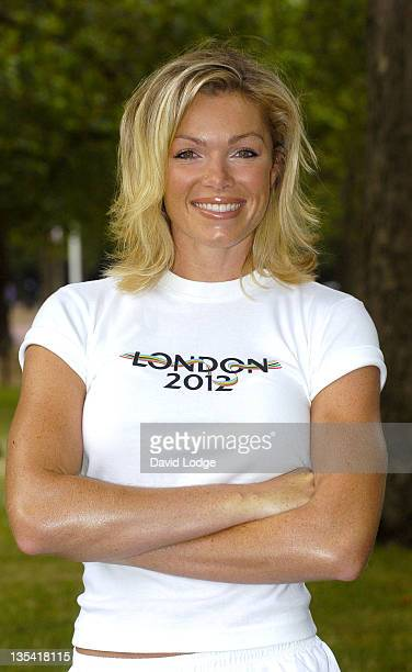 Nell McAndrew during Nell McAndrew Unveils London 2012 Olympic Bid Flags at The Mall in London Great Britain