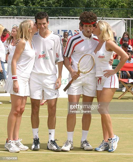 Nell McAndrew Tim Henman and Diana Stewart and Alistair McGowan