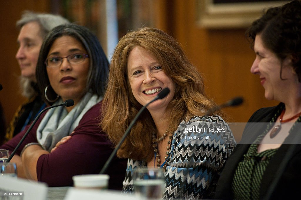 Nell Minow Darrien Gipson Marcina Hale and Nicole BernardiReis attend the Women In Film panel at the 2016 Ebertfest on April 15 2016 in Champaign...