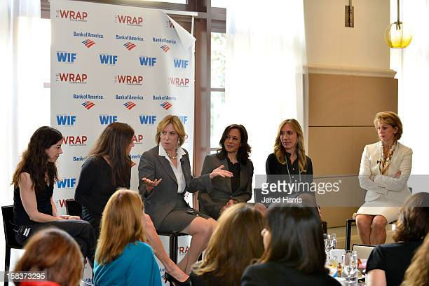Nell Schovell Cathy Schulman Wendy Greuel California Attorney General Kamala Harris and Anne Globe participate in TheWrap's 'The Power Of Leadership'...