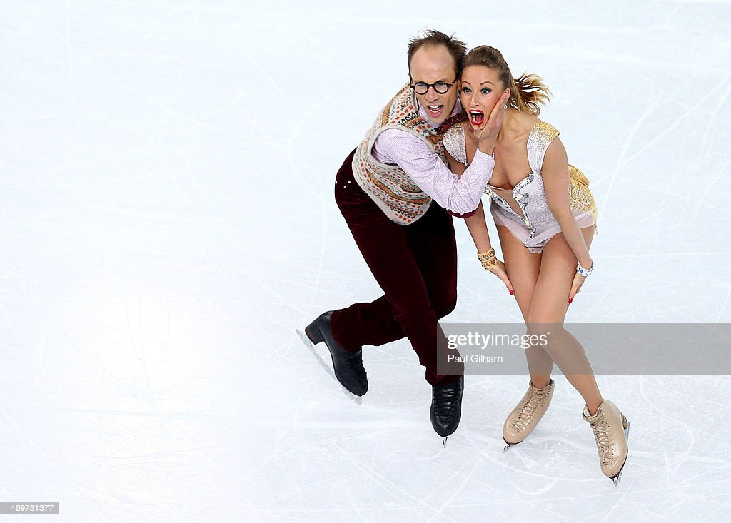 <a gi-track='captionPersonalityLinkClicked' href=/galleries/search?phrase=Nelli+Zhiganshina&family=editorial&specificpeople=4119864 ng-click='$event.stopPropagation()'>Nelli Zhiganshina</a> and <a gi-track='captionPersonalityLinkClicked' href=/galleries/search?phrase=Alexander+Gazsi&family=editorial&specificpeople=2110449 ng-click='$event.stopPropagation()'>Alexander Gazsi</a> of Germany compete during the Figure Skating Ice Dance Short Dance on day 9 of the Sochi 2014 Winter Olympics at Iceberg Skating Palace on February 16, 2014 in Sochi, Russia.