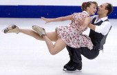 Nelli Zhiganshina and Alexander Gazsi of Germany skate in the Ice Short Dance during ISU Rostelecom Cup of Figure Skating 2012 at the Megasport...