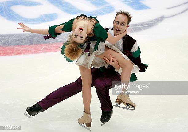 Nelli Zhiganshina and Alexander Gazsi of Germany skate in the Ice Dance Free Dance Skating during ISU Rostelecom Cup of Figure Skating 2012 at the...