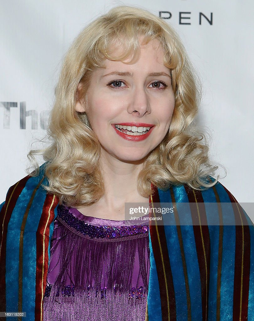 Nellie McKay attends the 'Old Hats' Opening Night at Signature Theatre Company's The Pershing Square Signature Center on March 4, 2013 in New York City.