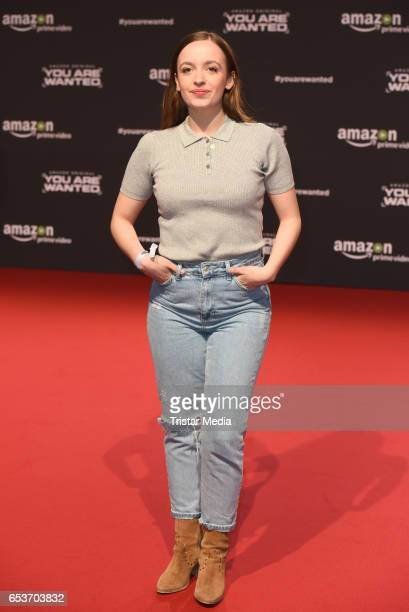 Nellie Thalbach attends the premiere of the Amazon series 'You are wanted' at CineStar on March 15 2017 in Berlin Germany