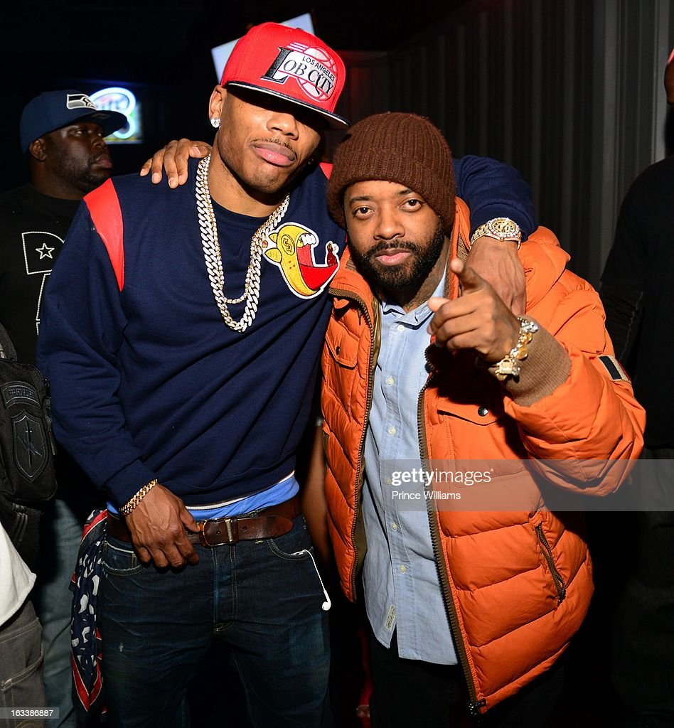 <a gi-track='captionPersonalityLinkClicked' href=/galleries/search?phrase=Nelly+-+Rapper&family=editorial&specificpeople=11499081 ng-click='$event.stopPropagation()'>Nelly</a> and <a gi-track='captionPersonalityLinkClicked' href=/galleries/search?phrase=Jermaine+Dupri&family=editorial&specificpeople=201712 ng-click='$event.stopPropagation()'>Jermaine Dupri</a> attend a party hosted by T.I. and Fabolous at Cameo Nightclub on March 1, 2013 in Charlotte, North Carolina.