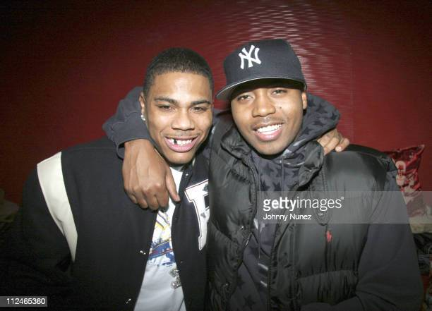 Nelly and Nas **Exclusive Coverage ** during Nelly and Daddy Yankee Host Reebok After Party at Marquee in New York New York United States