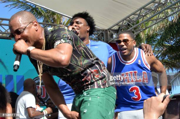 Nelly and TI performs at Irie Weekend Pool Party at the Eden Roc on July 1 2017 in Miami Beach Florida