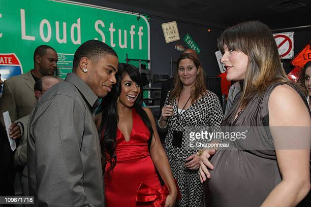 Nelly Ashanti and Milla Jovovich at the World Premiere of Screen Gems 'Resident Evil Extinction' at Planet Hollywood Resort and Casino on September...