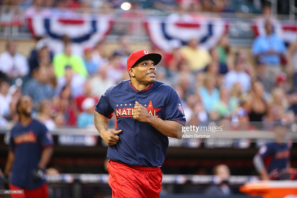Nelly at the 2014 MLB All-Star legends and celebrity softball game on July 13, 2014 at the Target Field in Minneapolis, Minnesota.