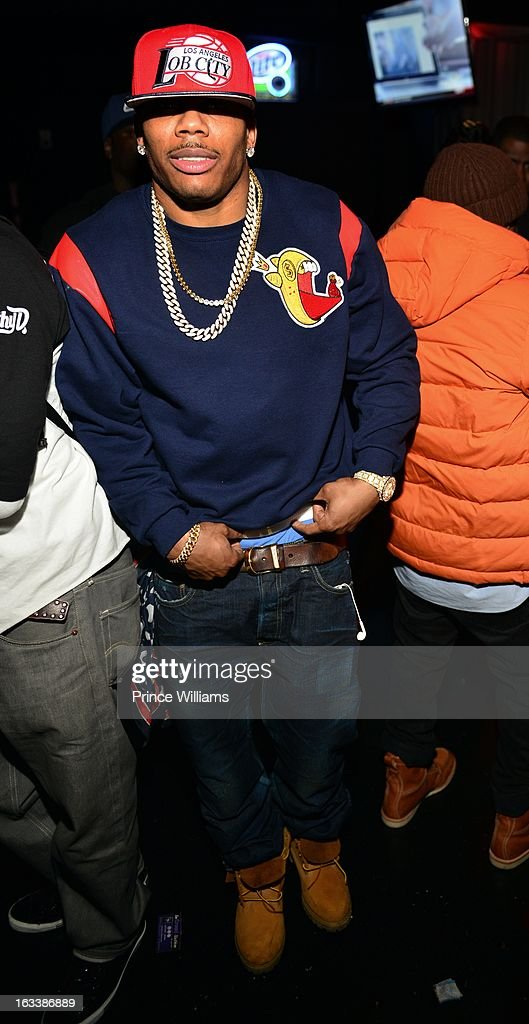 <a gi-track='captionPersonalityLinkClicked' href=/galleries/search?phrase=Nelly+-+Rapper&family=editorial&specificpeople=11499081 ng-click='$event.stopPropagation()'>Nelly</a> attends party hosted by T.I. and Fabolous at Cameo Nightclub on March 1, 2013 in Charlotte, North Carolina.