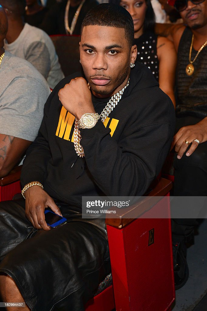 <a gi-track='captionPersonalityLinkClicked' href=/galleries/search?phrase=Nelly+-+Rapper&family=editorial&specificpeople=11499081 ng-click='$event.stopPropagation()'>Nelly</a> attends the BET Hip Hop Awards 2013 at the Boisfeuillet Jones Atlanta Civic Center on September 28, 2013 in Atlanta, Georgia.