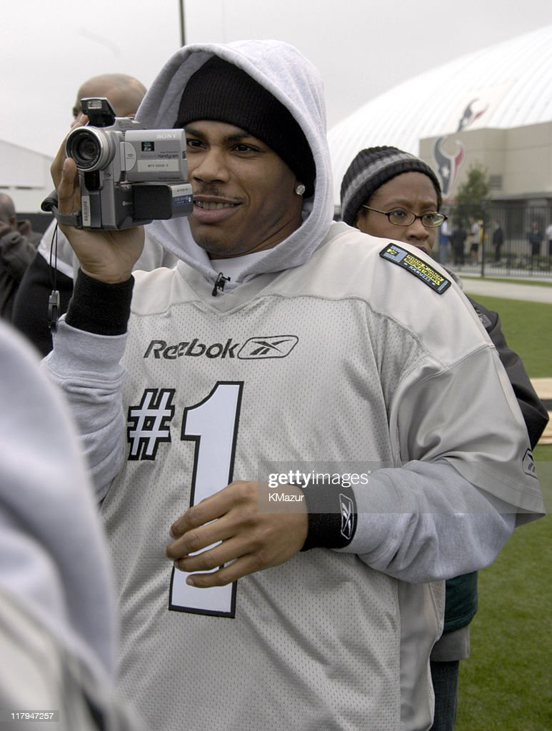 Nelly during MTV's Rock N Jock Super Bowl XXXVIII at MTV Compound Near Reliant Stadium in Houston, Texas, United States.