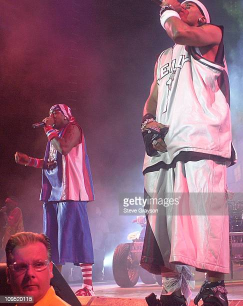 Nelly during MTV's 'TRL' Tours Southern California September 2 2001 at Verizon Wireless Amphitheater in Irvine California United States