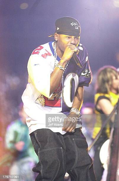 Nelly during Super Bowl XXXV Halftime Show 2001 at Raymond James Stadium in Tampa FL United States