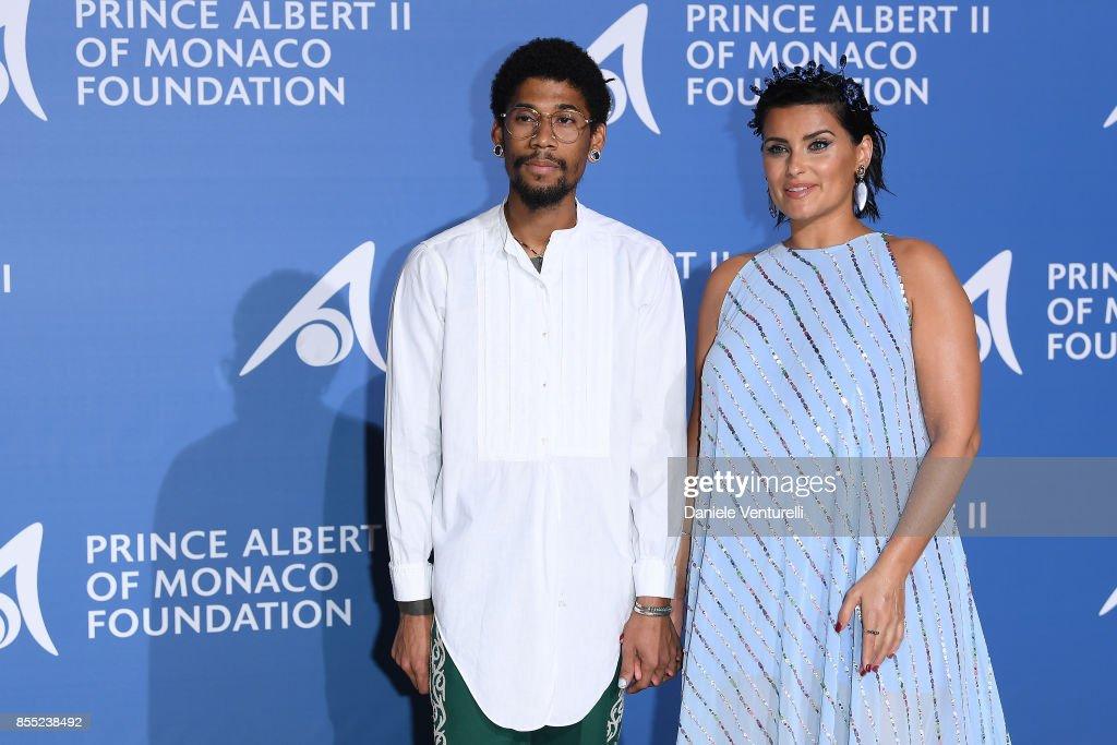 Nelly Furtado and Gerard Long II attend the inaugural 'Monte-Carlo Gala for the Global Ocean' honoring Leonardo DiCaprio at the Monaco Garnier Opera on September 28, 2017 in Monaco, Monaco.