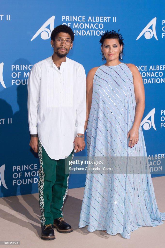 Nelly Furtado (L) and guest attend the Inaugural 'Monte-Carlo Gala For The Global Ocean' Honoring Leonardo DiCaprio at The Monaco Garnier Opera on September 28, 2017 in Monaco, Monaco.