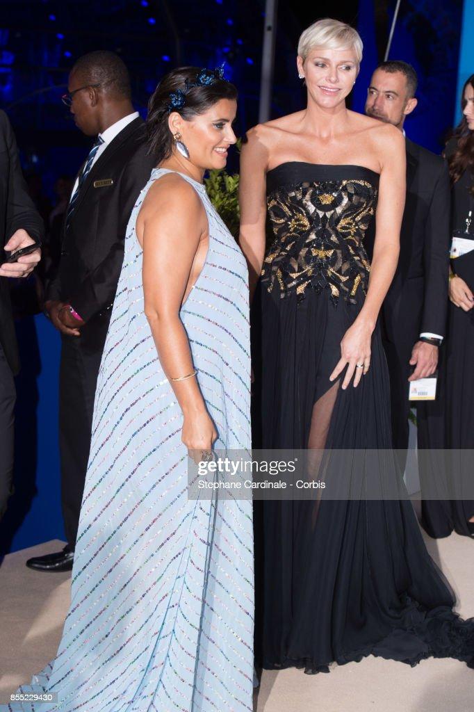 Nelly Furtado and Princess Charlene of Monaco attend the Inaugural 'Monte-Carlo Gala For The Global Ocean' Honoring Leonardo DiCaprio at The Monaco Garnier Opera on September 28, 2017 in Monaco, Monaco.