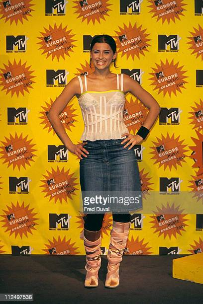 Nelly Furtado during 2001 Europe MTV Awards Press Room at Festhalle in Frankfurt Germany