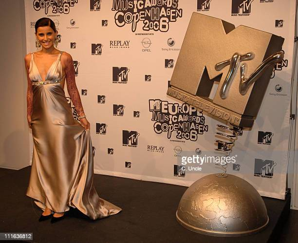 Nelly Furtado during 2006 MTV European Music Awards Copenhagen Press Room at Bella Centre in Copenhagen Denmark