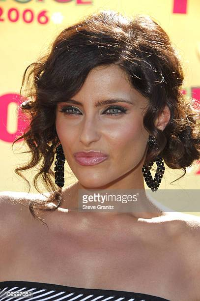 Nelly Furtado during 2006 Teen Choice Awards Arrivals at Gibson Amphitheatre in Universal City California United States