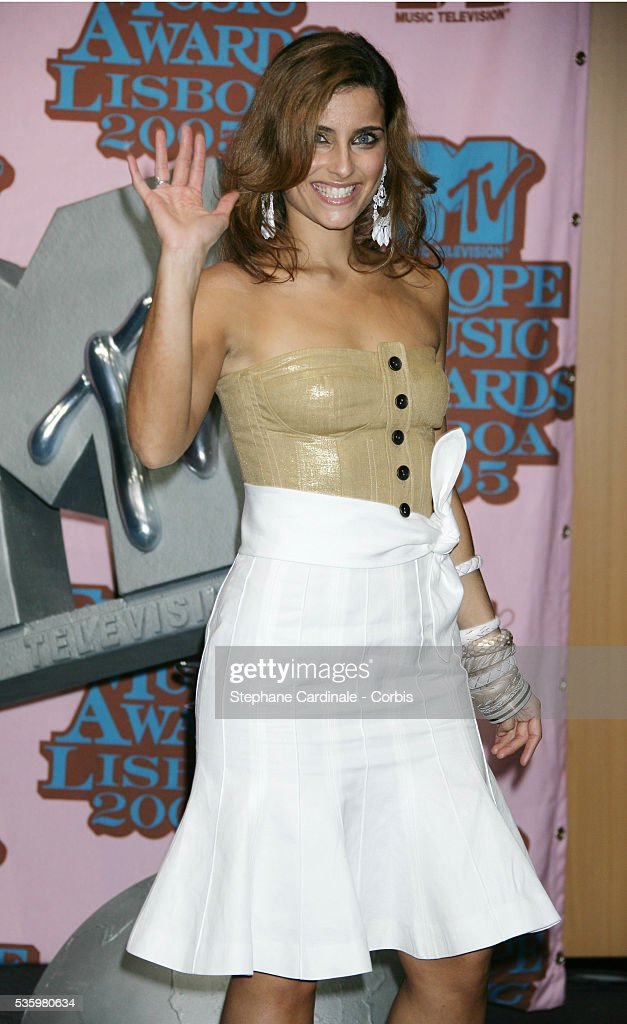 Nelly Furtado in the press room at the 12th annual MTV Europe Music Awards 2005 held at the Atlantic Pavilion in Lisbon.