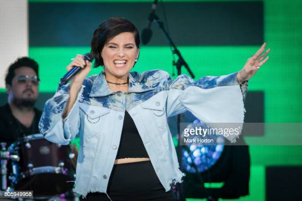 Nelly Furtado performs at We Day Canada at Parliament Hill on July 2 2017 in Ottawa Canada
