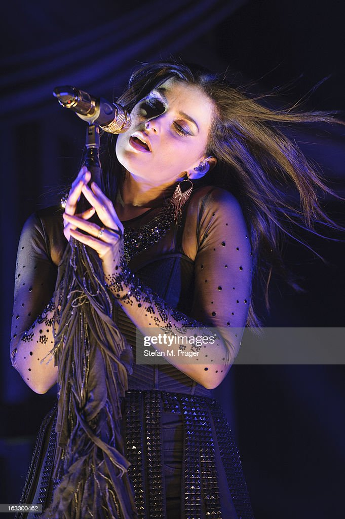 Nelly Furtado performs on stage in concert at Kesselhaus on March 7, 2013 in Munich, Germany.
