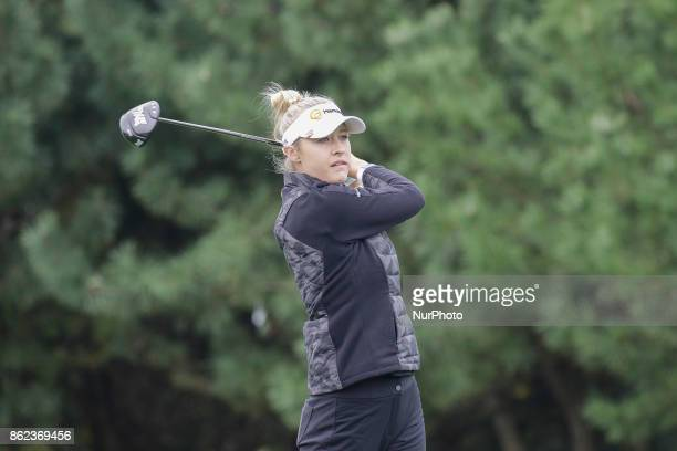 Nelly Korda of USA action on the 2th tee during an KEB HANA BANK LPGA Championship day 1 at Sky72 Ocean Golf range in Incheon South Korea