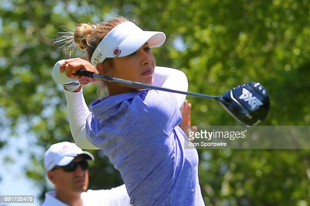Nelly Korda tees off during the first round of the LPGA Shoprite Classic on June 02 at Stockton Seaview Hotel and Golf Club in Galloway NJ
