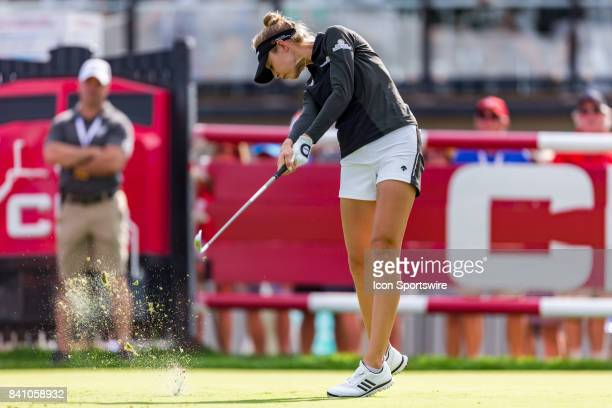 Nelly Korda tees off on the 15th hole during the final round of the Canadian Pacific Women's Open on August 27 2017 at The Ottawa Hunt and Golf Club...