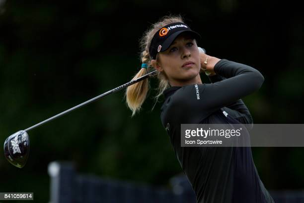 Nelly Korda tees off on the 1st hole during the final round of the Canadian Pacific Women's Open on August 27 2017 at The Ottawa Hunt and Golf Club...